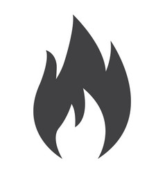 flammable symbol glyph icon logistic vector image