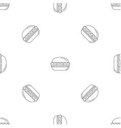 fresh burger pattern seamless vector image
