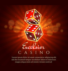 Gambling dice poster vector
