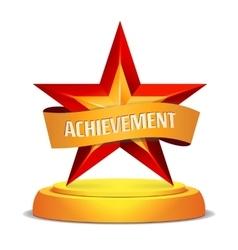 Gold Star Award Shiny Modern vector