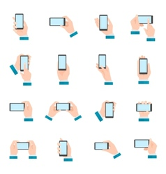 Hand With Phone Icons vector image