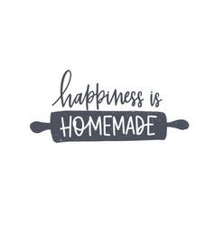 Happiness is homemade phrase handwritten vector