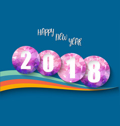 Happy new year 2018 background polygon number vector