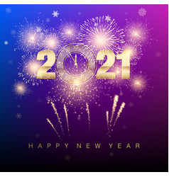 happy new year 2021 new years banner with golden vector image