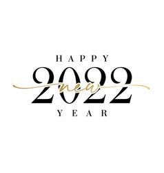 Happy new year 2022 elegant calligraphy vector