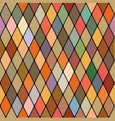 Harlequins golden autumnal seamless pattern vector