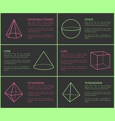 Hexagonal pyramid and sphere vector