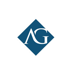 Initial ag rhombus logo design vector