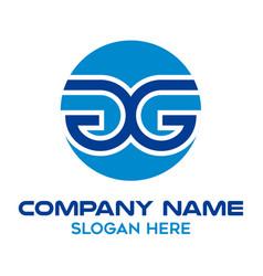 Initial letter gg circular logo design template vector