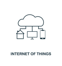 internet of things icon thin line style industry vector image