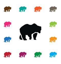 Isolated polar icon bear element can be vector
