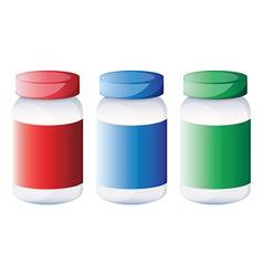 Jars of medicine vector