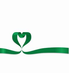 Libyan flag heart-shaped ribbon vector