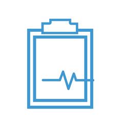 Line medical prescription and check list element vector