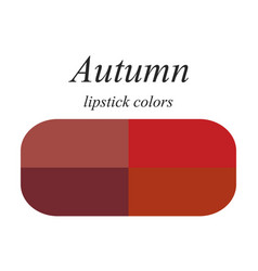 Lipstick colors for autumn type vector