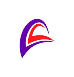 loop abstract logo vector image