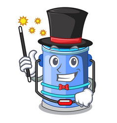 Magician bucket cylinder water in shape character vector