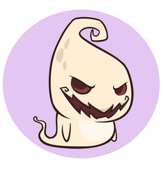 Naughty ghost smiling cartoon vector