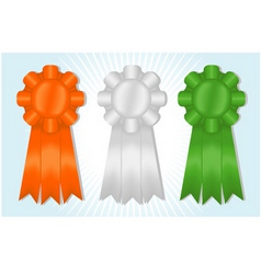 Orange white and green ribbons vector