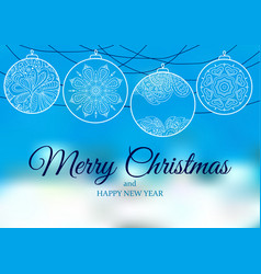 Ornament on a blue and white backgrounds vector