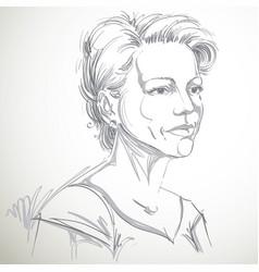 Portrait of attractive woman of good-looking vector