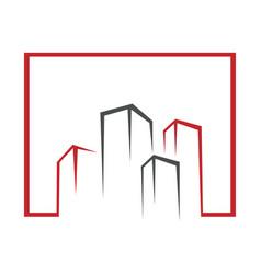 real estate logo design abstract building vector image