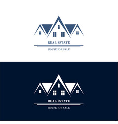 real estate logo design house abstract concept vector image