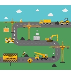 Road Construction Concept vector
