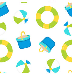 seamless pattern with bucket sand vector image