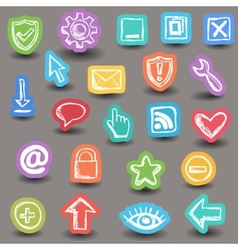 Set of internet web icons vector image