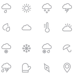Set outline weather icons for web and mobile vector image