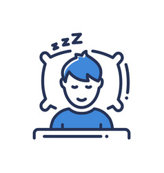Sleep - modern single line icon vector