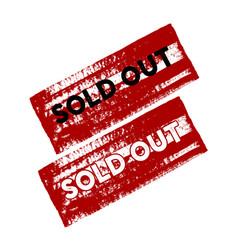 sold out red grunge stamp sale vintage rubber vector image