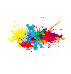 splatter color background design vector image