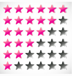 star rating with 6 stars - rating feedback rating vector image