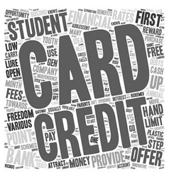 Student Credit Cards First Step To Financial vector image