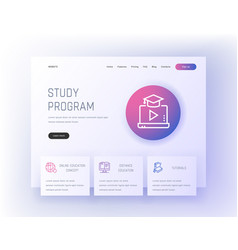 study program online education concept distance vector image