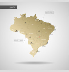 stylized brazil map vector image
