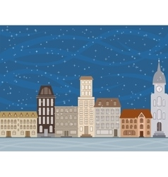 The city is snowing vector
