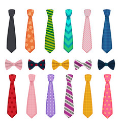 tie and bows colored fashion clothes accessories vector image