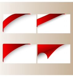 vector red corner ribbons vector image