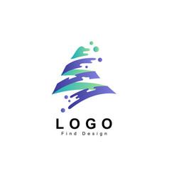Water logo ribbon in mountain concept vector