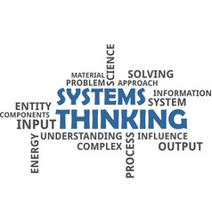 word cloud - systems thinking vector image