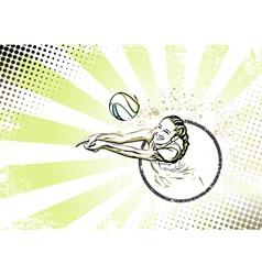 Beach volleyball poster vector