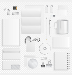 corporate identity business items icons of vector image