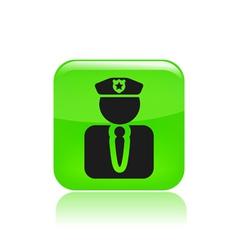 modern police icon vector image vector image