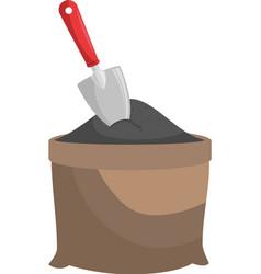 Sand grit shovel vector