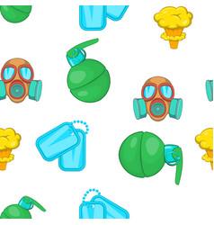War equipment pattern cartoon style vector image vector image