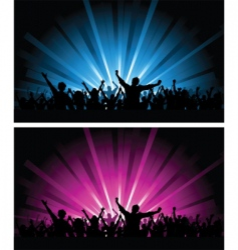 crowd scenes vector image vector image
