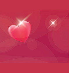 heart romantic red background vector image vector image